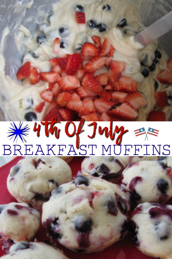 4th Of July Breakfast Muffins