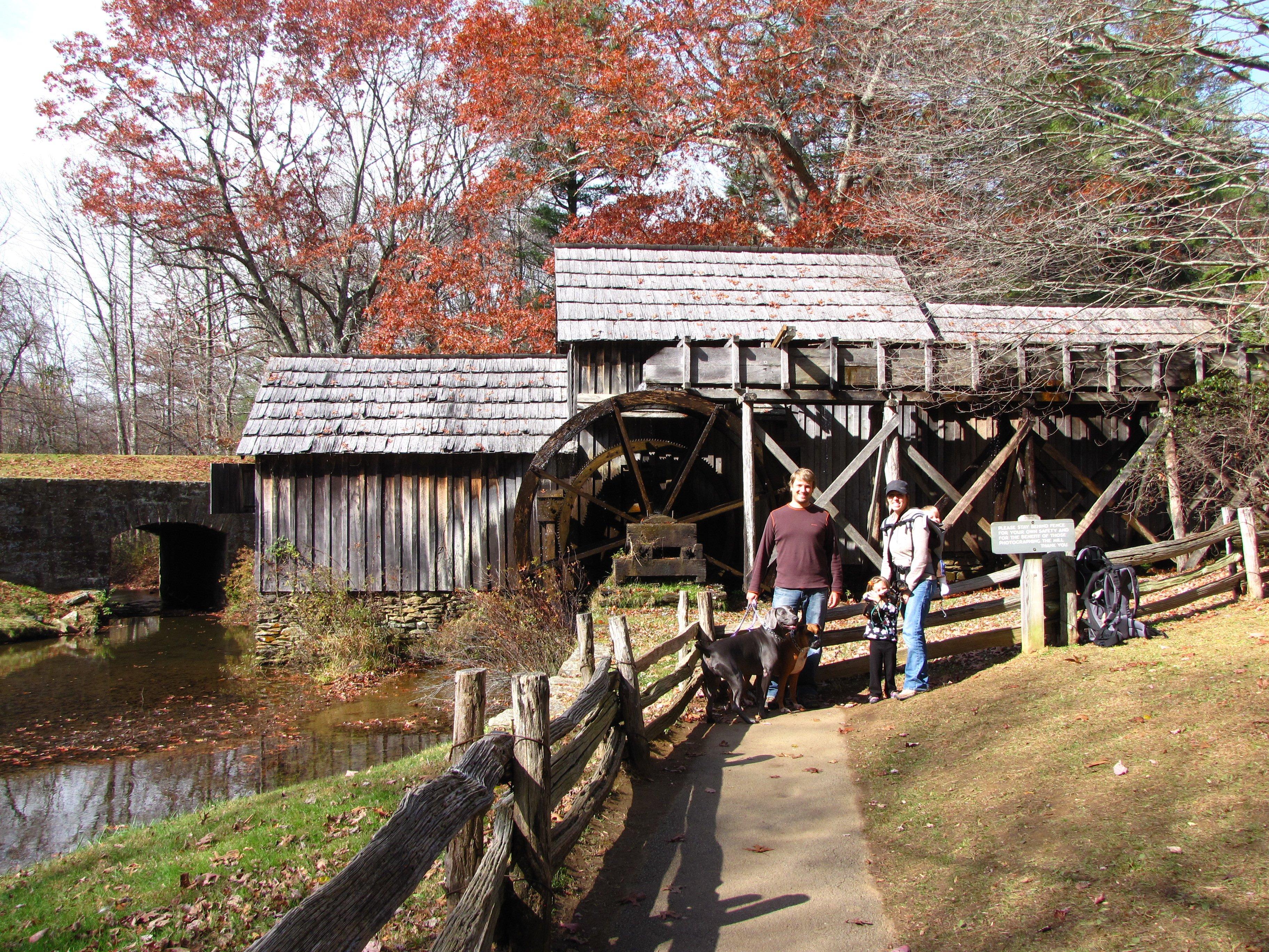 Blue Ridge Parkway road trip Mabry Mill