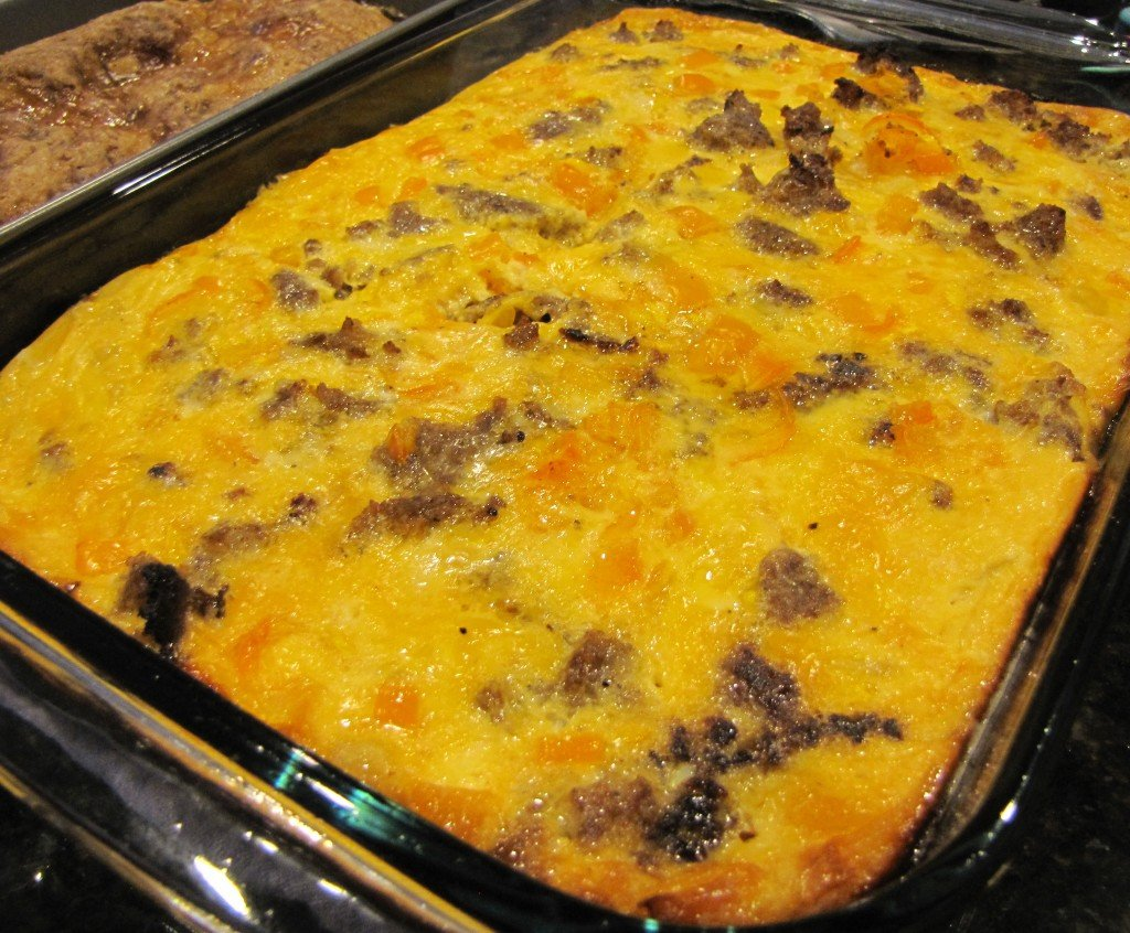Christmas Morning Breakfast: Sausage & Egg Casserole