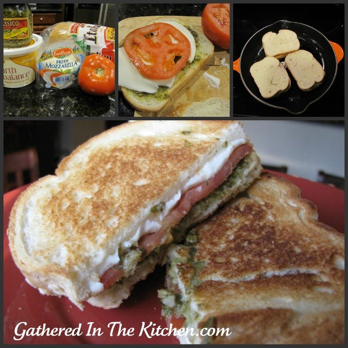 Grilled Pesto Tomato Mozzarella Sandwiches - Gathered In The Kitchen