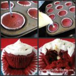 Red Velvet Cupcakes Filled with Vanilla Pudding