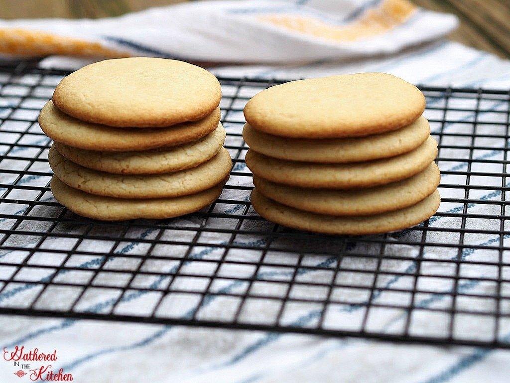 stack of sugar cookies