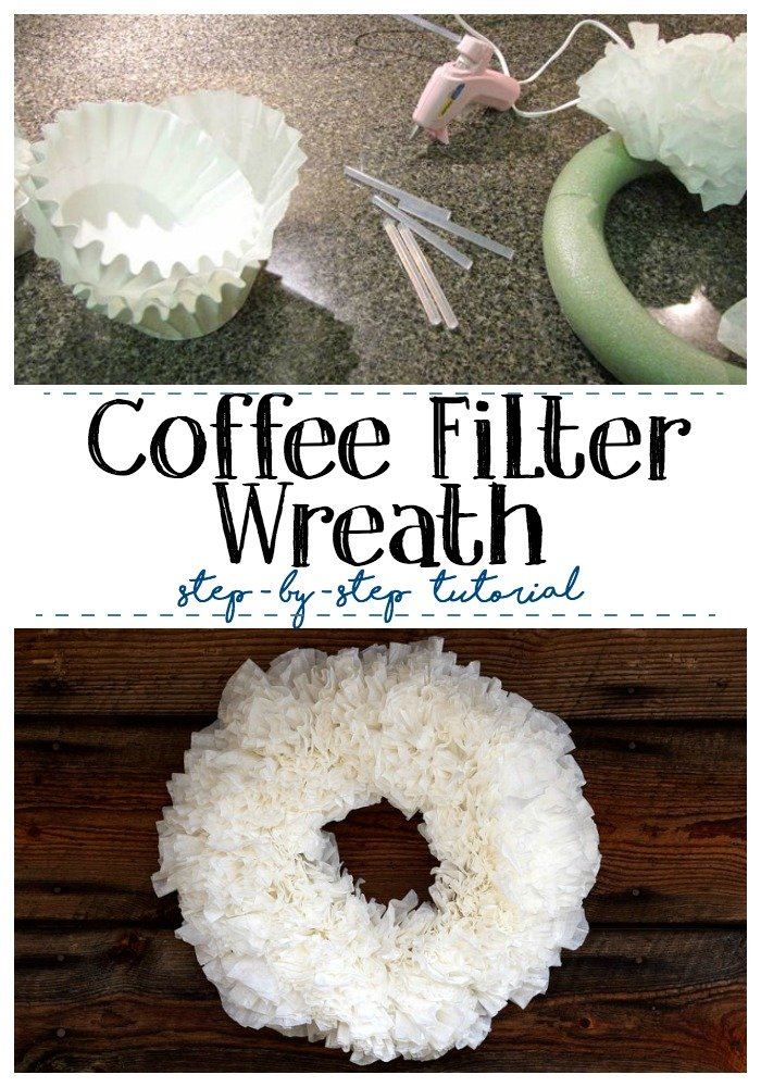 coffee filter wreath step-by-step tutorial
