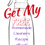 FREE Homemade Cleaners Recipe eBook