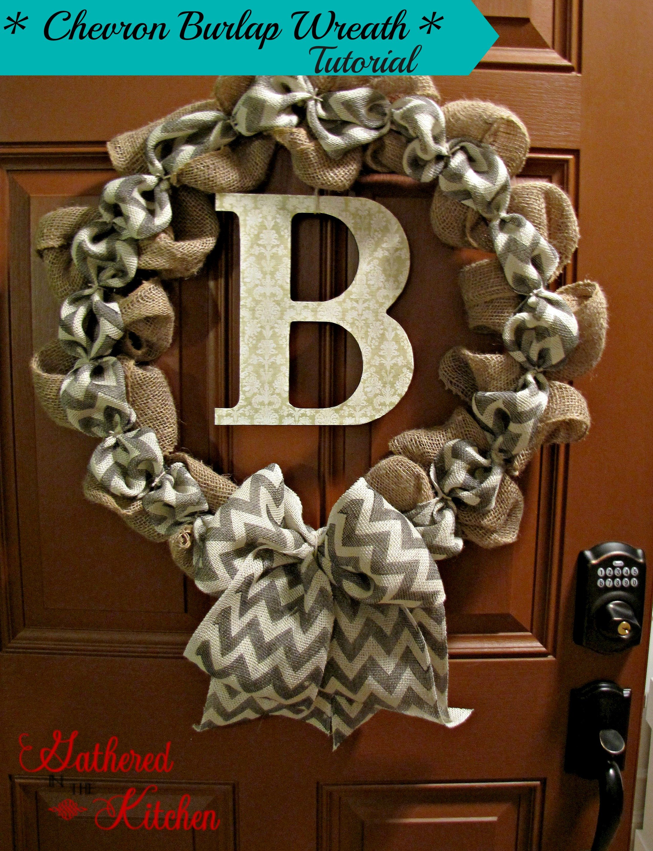 Diy chevron burlap wreath tutorial Making wreaths