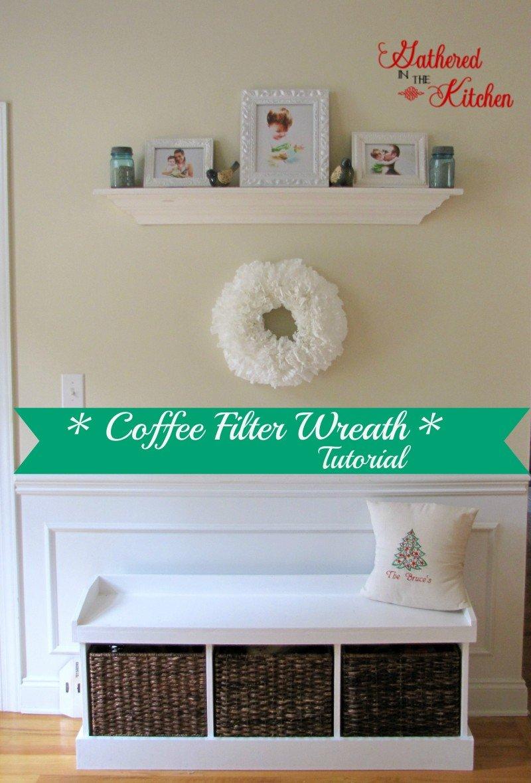 coffee filter wreath1