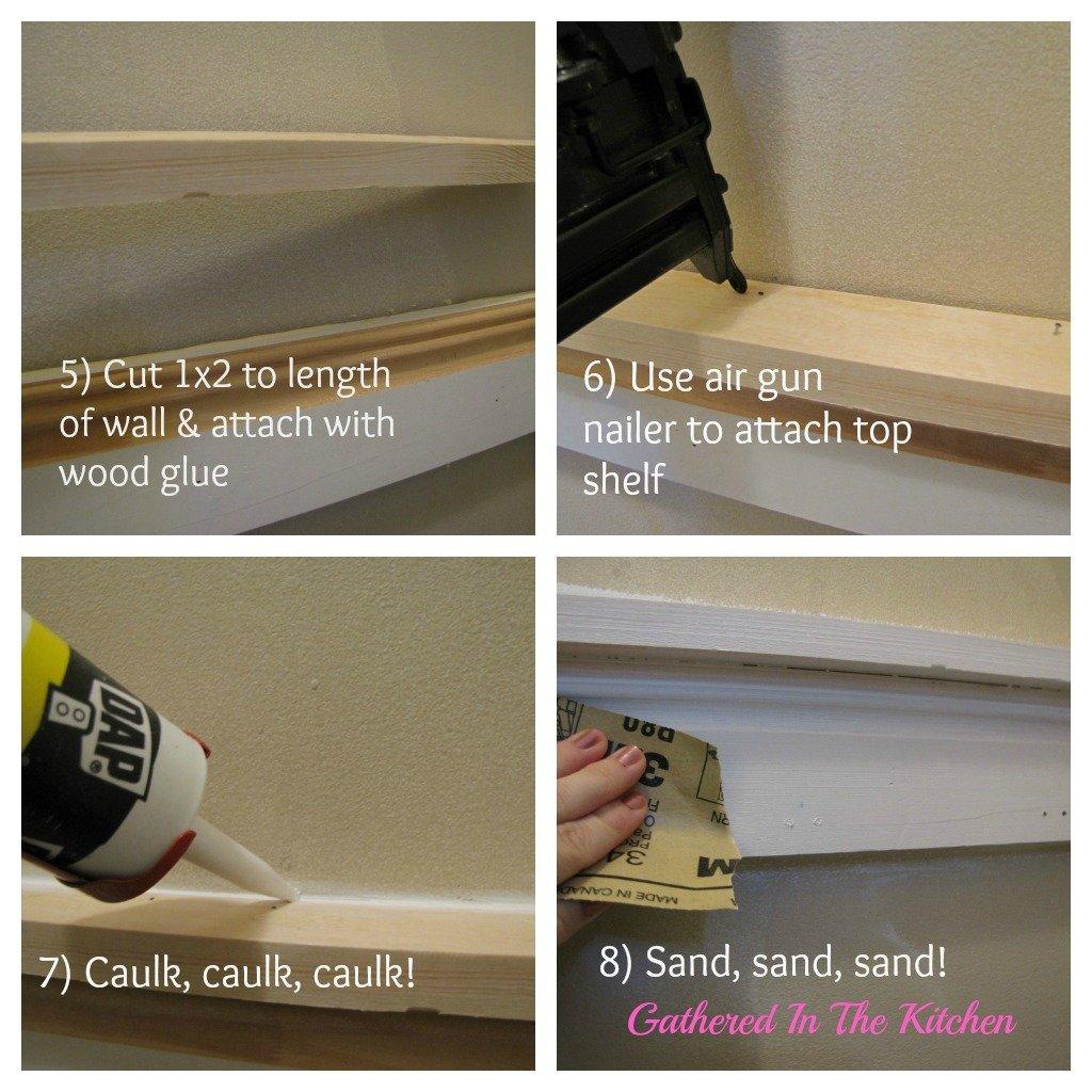 DIY Towel Hook Shelf & Beadboard Wall Tutorial