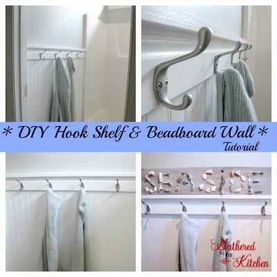 hook shelf & beadboard