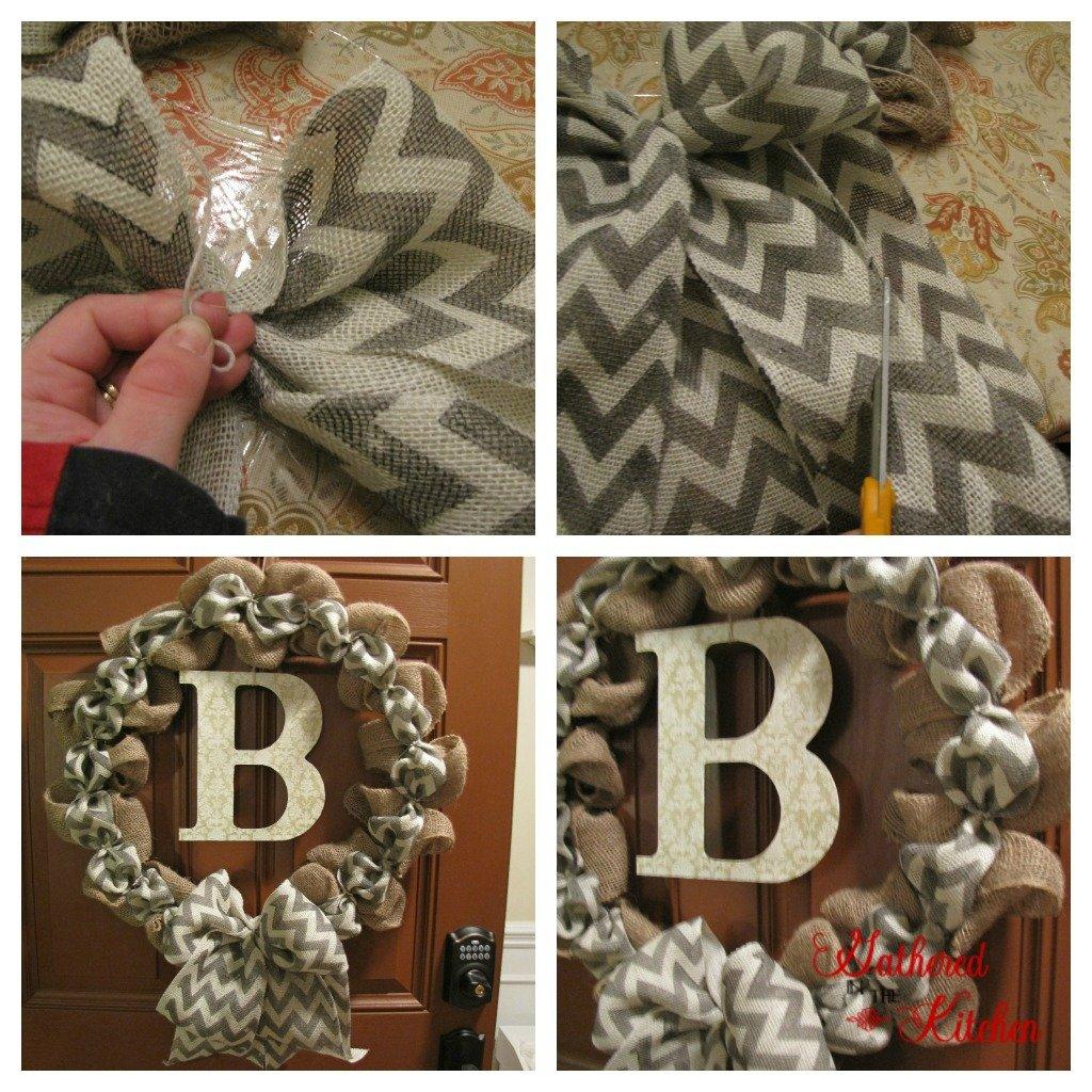 DIY Chevron Burlap Wreath Tutorial for Beginners!