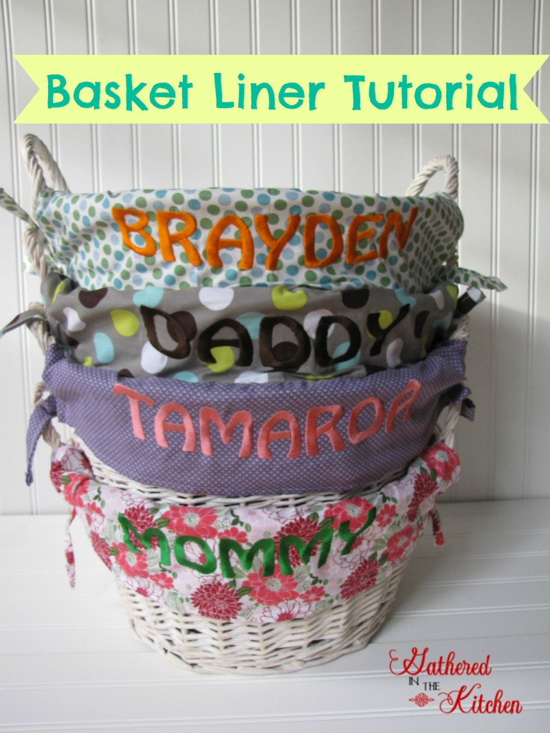 Easter Basket Liner Tutorial Gathered In The Kitchen