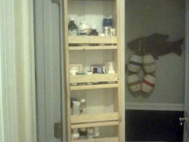 DIY Linen/Medicine Closet Door Organizer