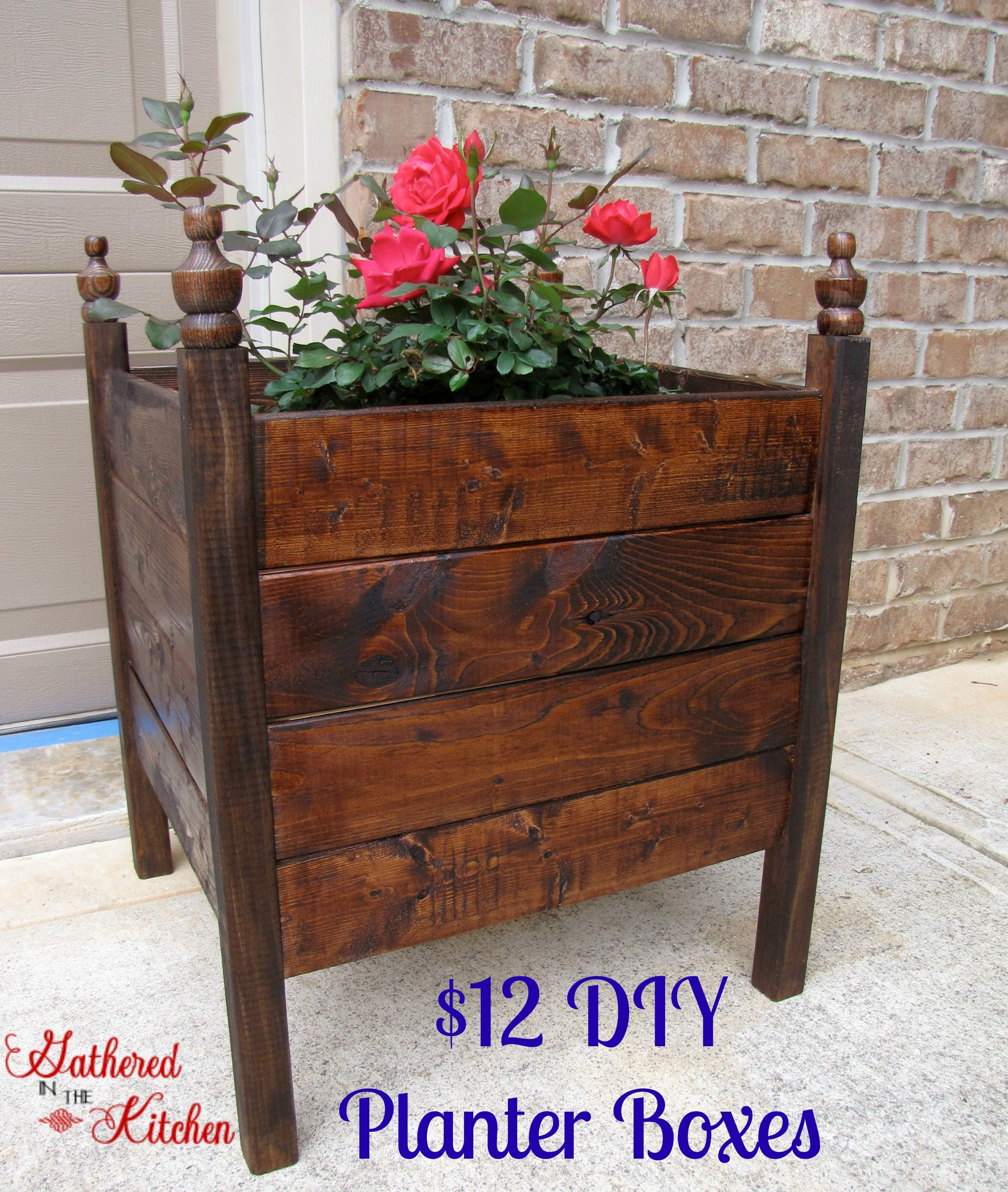 12 diy planter boxes. Black Bedroom Furniture Sets. Home Design Ideas