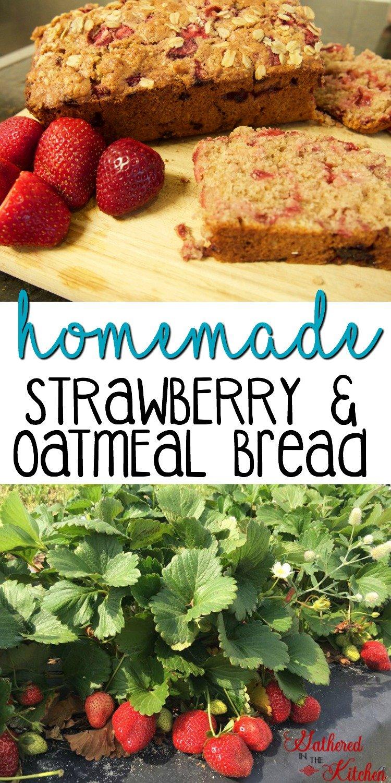 Homemade Strawberry & Oatmeal Bread