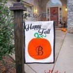 DIY Fall Garden Flag – Pumpkin Outdoor Flag