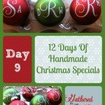 12 Days Of Handmade Christmas Specials – Day 9: Vinyl Monogrammed Ornaments