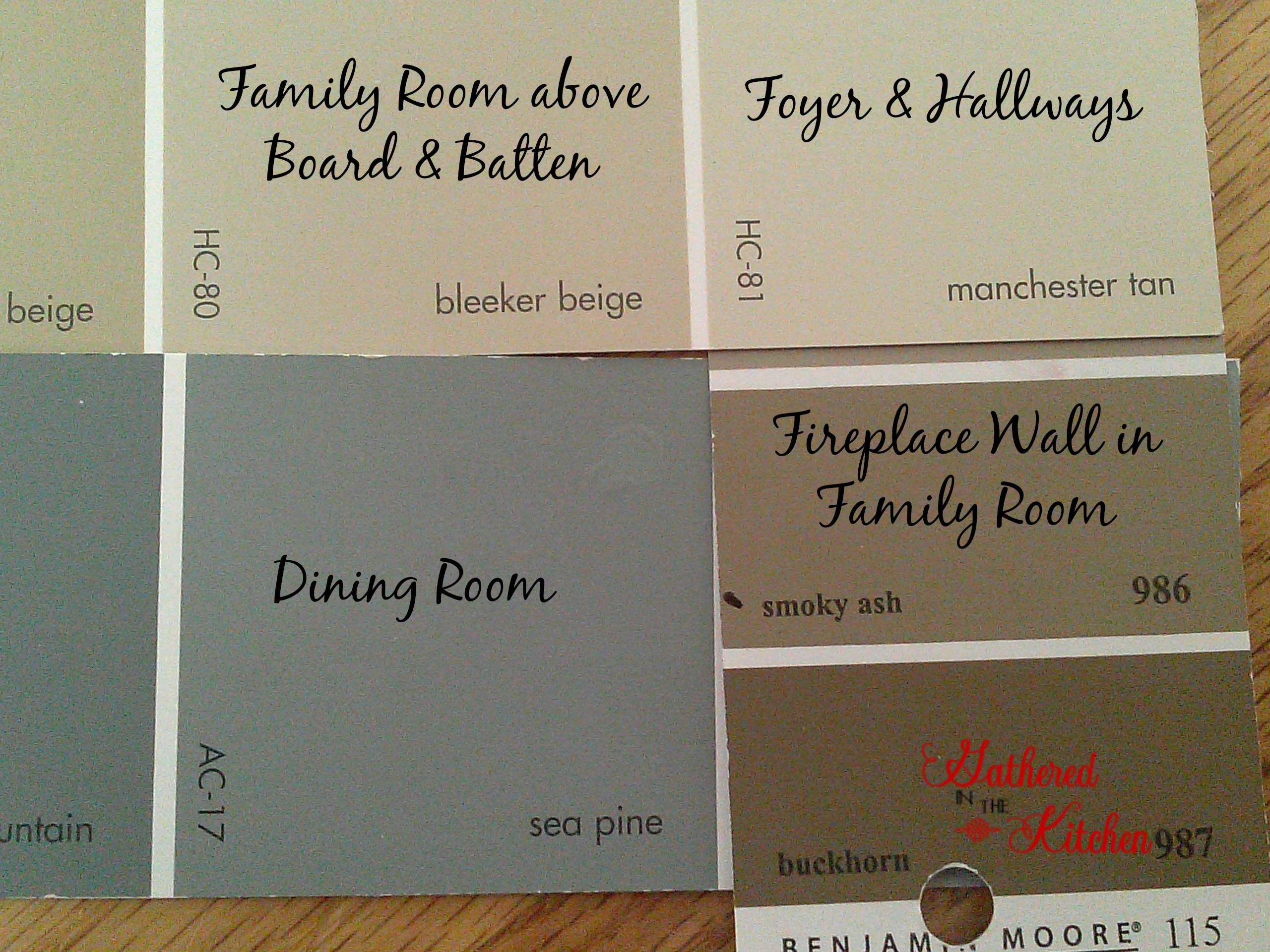 New Paint Colors Gathered In The Kitchen