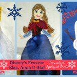 Inspired Disney's Frozen: Elsa, Anna & Olaf Personalized Appliqued T-Shirts