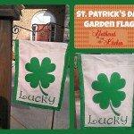 St. Patrick's Day Garden Flag DIY
