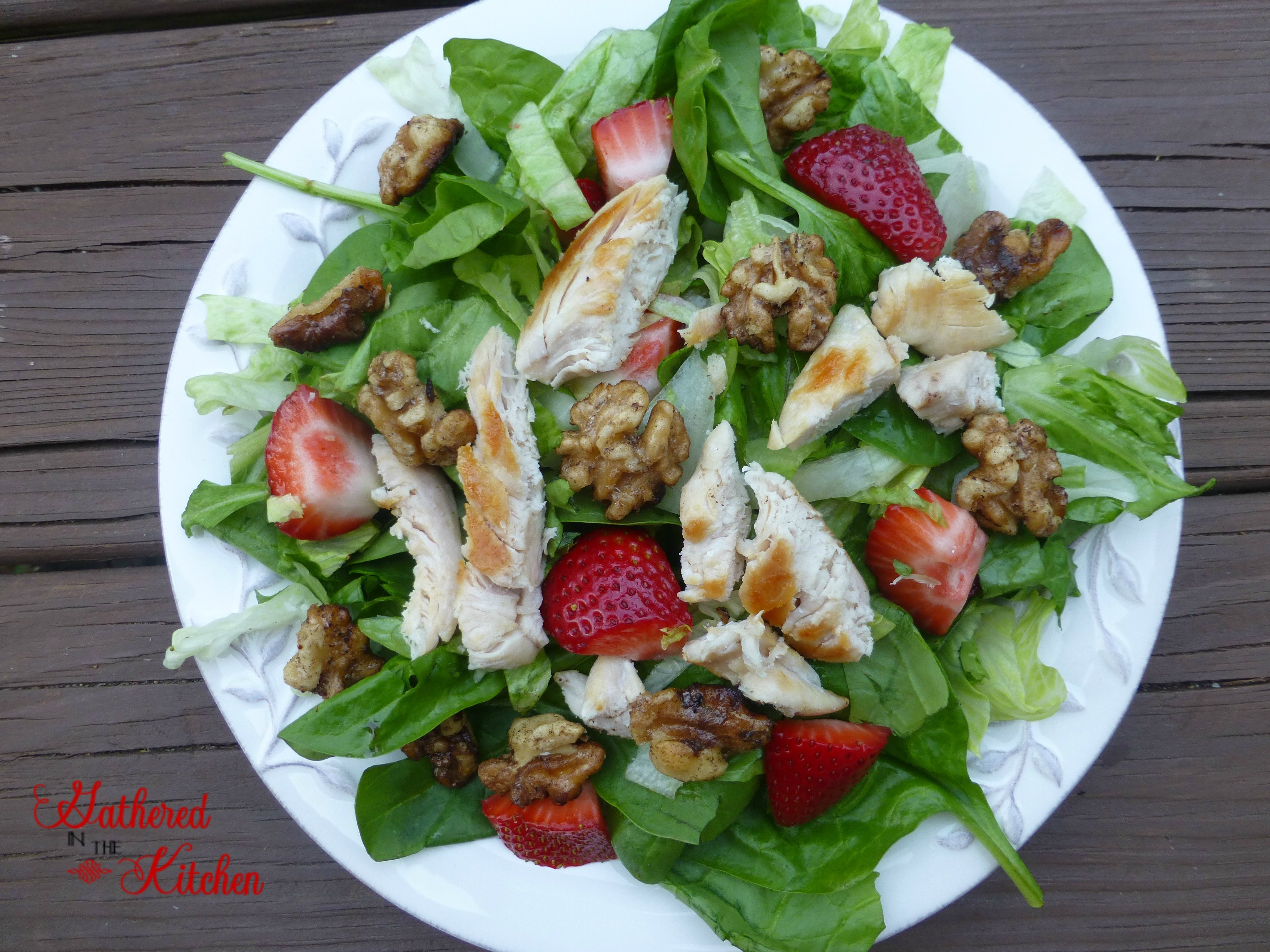 chicken strawberry salad that is delicious!
