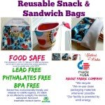 Reusable Snack and Sandwich Bags – Food Safe