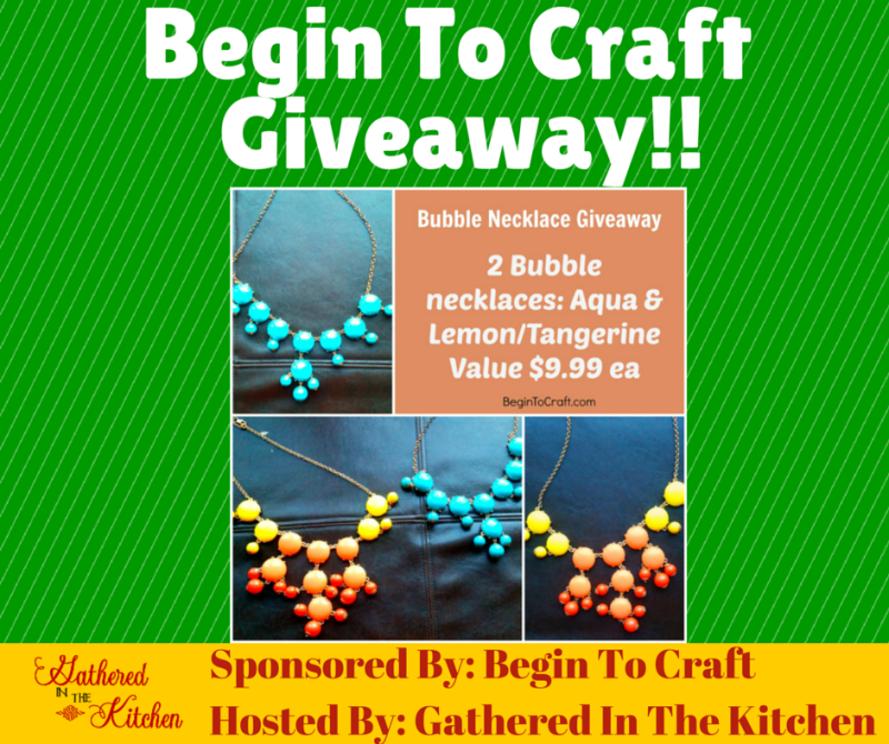 Begin To Craft Giveaway