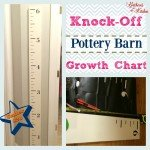 DIY Knock-Off Pottery Barn Kids Growth Chart