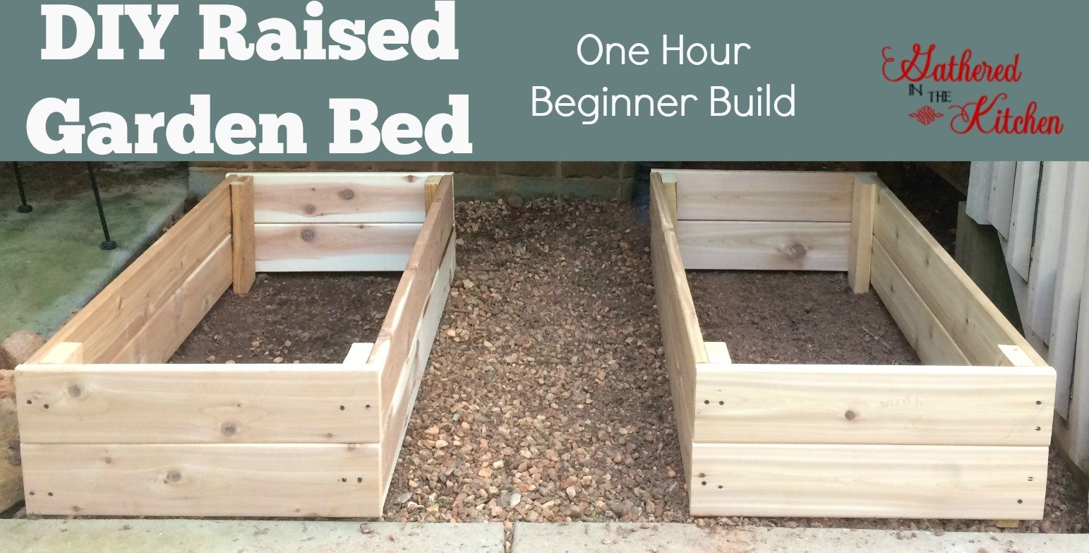 DIY Raised Garden Bed: one hour beginner build