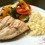 Grilled Salmon, Grilled Veggies and Couscous