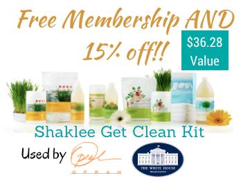 Shaklee Get Clean Kit – Free Membership & 15% Off!!