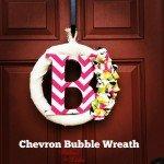 Chevron Bubble Wreath DIY Tutorial