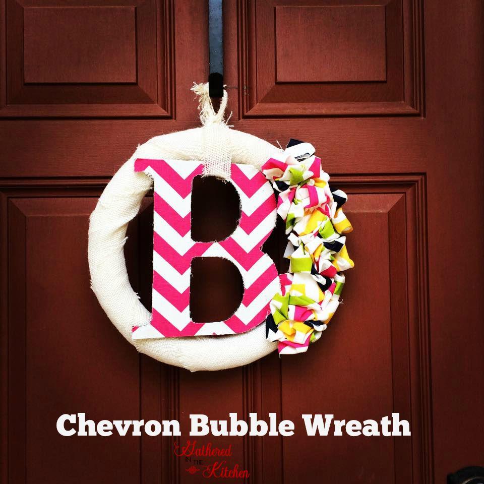 chevron bubble wreath tutorial