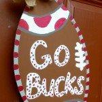 OSU Football Door Wreath
