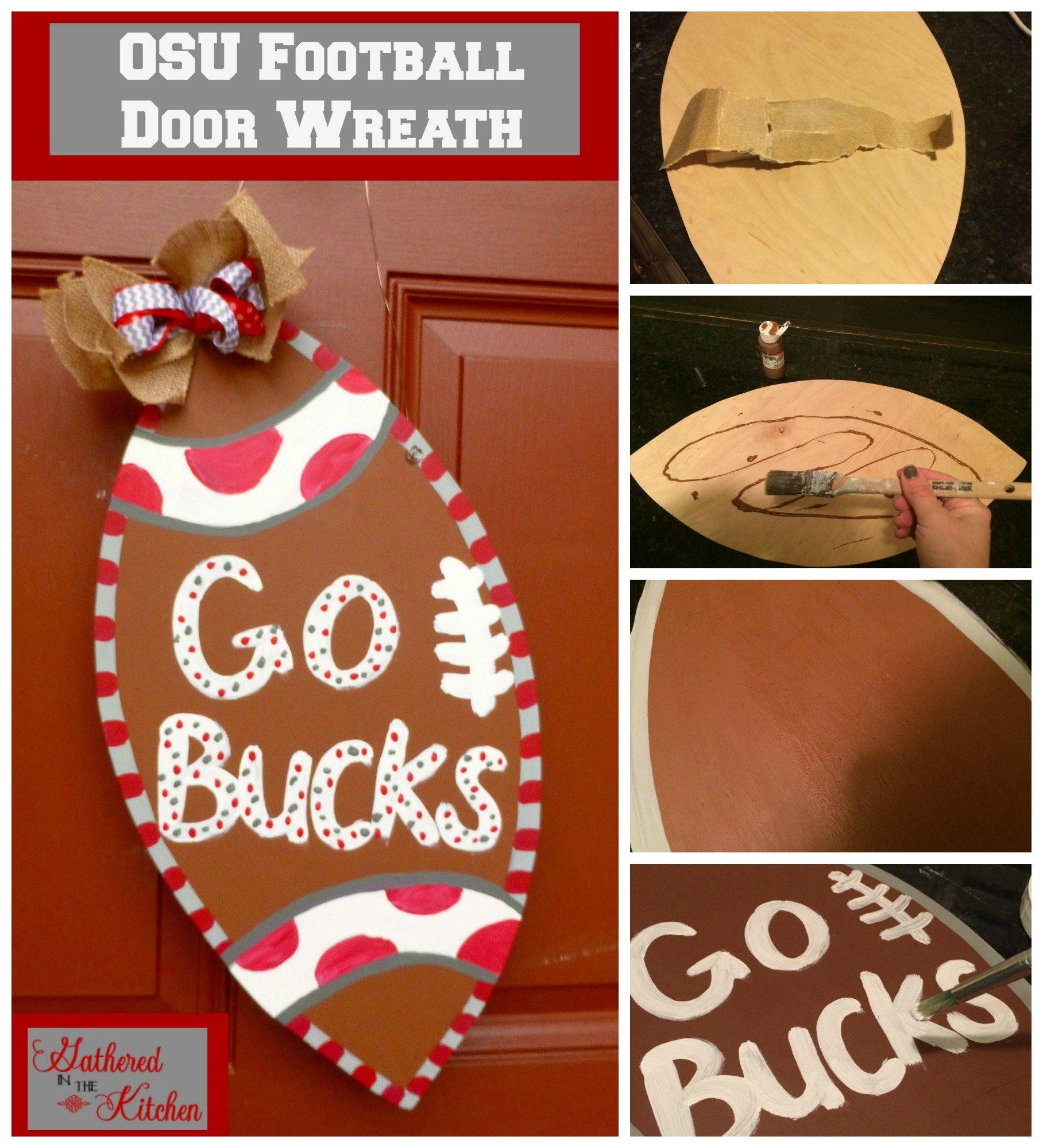 OSU football door wreath - 3