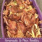 Homemade Lo Mein Noodles & Steak
