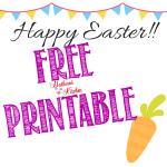 FREE Happy Easter Printable Tag