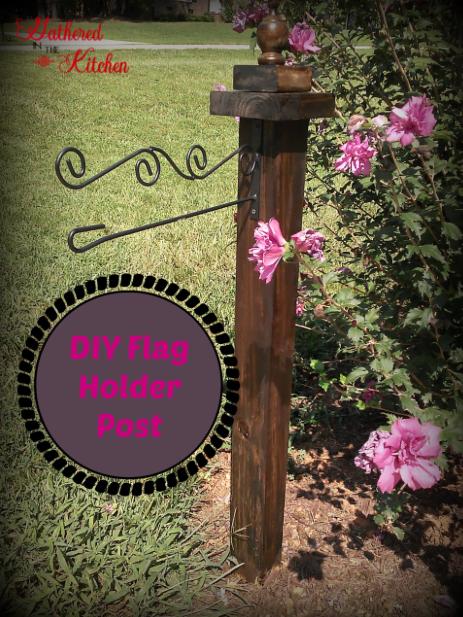 DIY Flag Holder Post