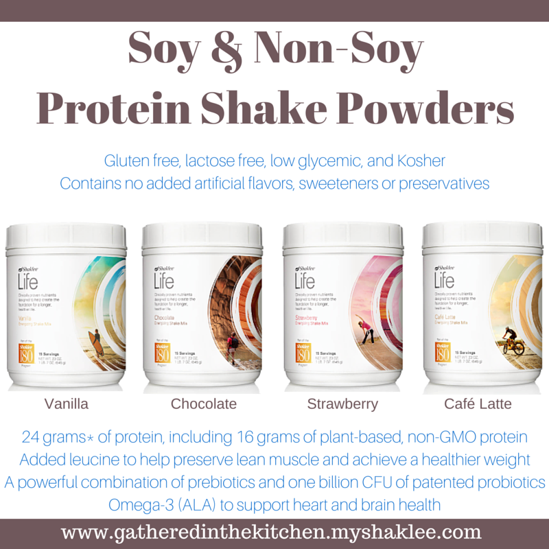 life shake - soy and non soy protein powders