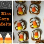 Hershey Kiss Candy Corn Pretzel Melts