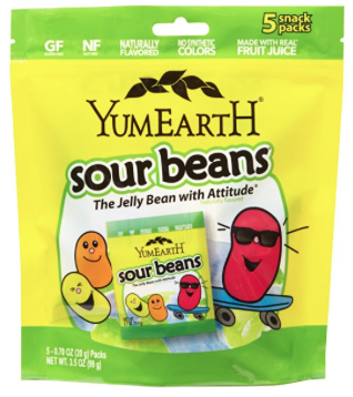 Yum Earth Sour Beans candy