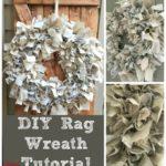 DIY Rag Wreath Tutorial Under $10