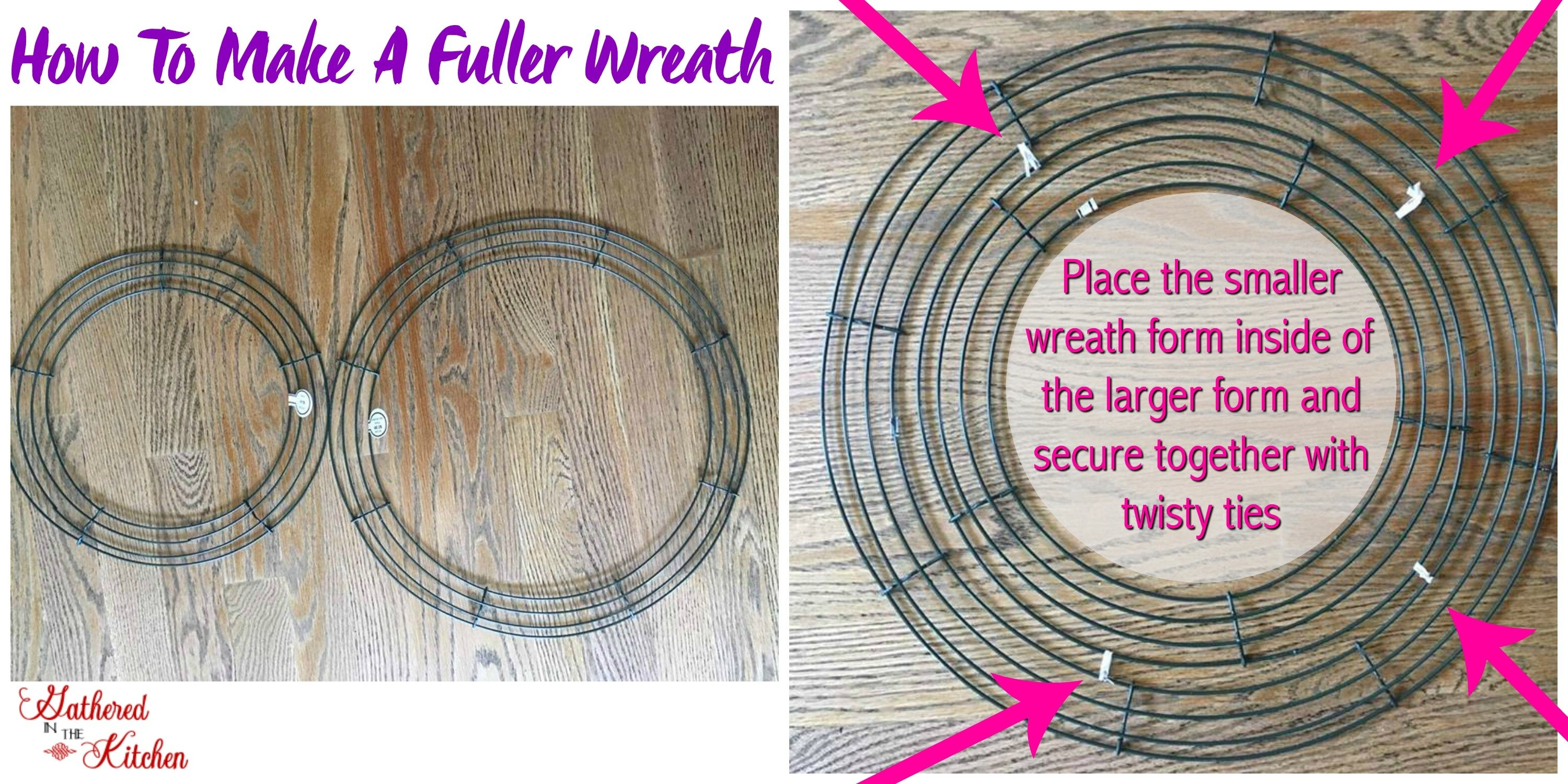 how to make a fuller wreath