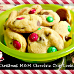 Christmas M&M Chocolate Chip Cookies