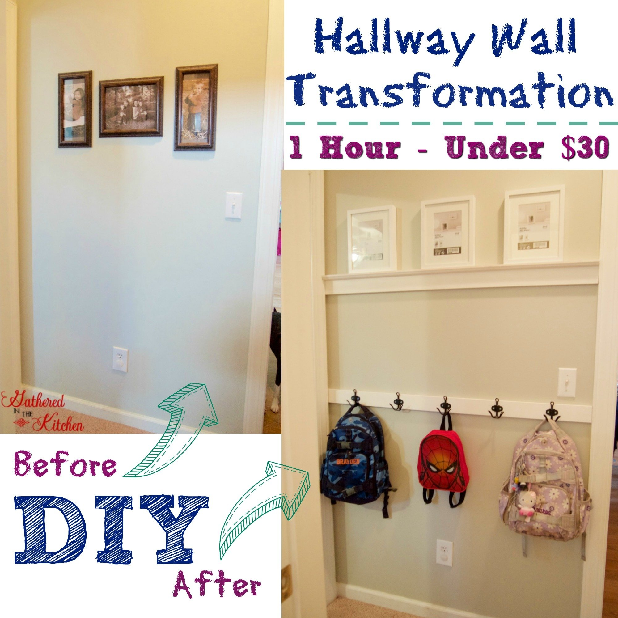 DIY Hallway Wall Transformation