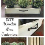 DIY Wooden Box Centerpiece for $5