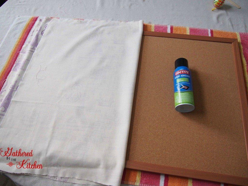 DIY Fabric Covered Bulletin Board