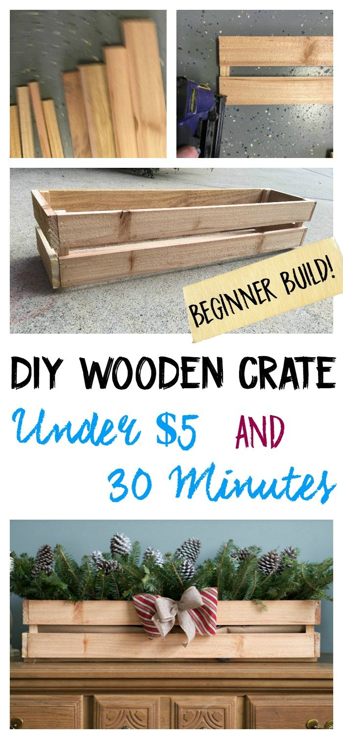 How to build a DIY Wooden Crate Under $5 and 30 Minutes - Beginner Build! Gathered In The Kitchen