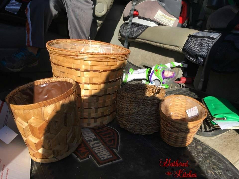 wicker baskets for fall decor