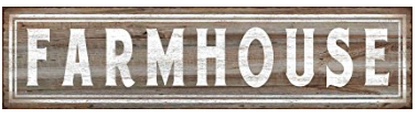 Farmhouse Tin Sign