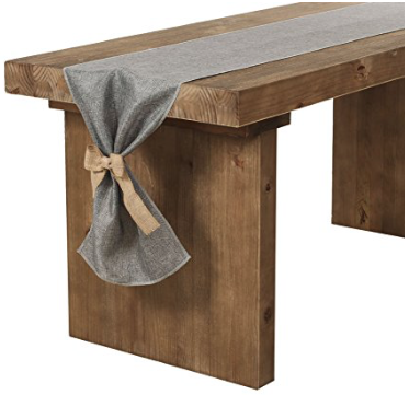 Burlap Table Runner with Bow