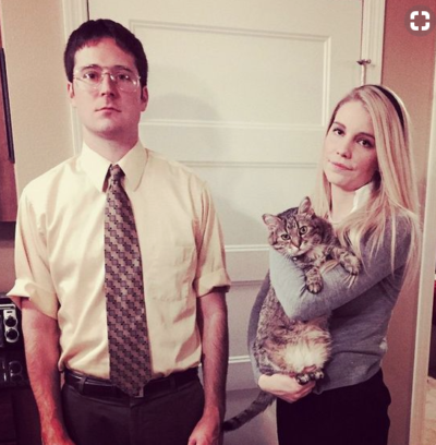 Couples Halloween Costumes: Dwight & Angela from The Office